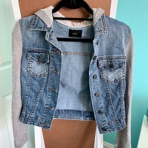 BDG Jean Jacket with Hooded Sweatshirt Insert